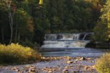 Lower_Tahquamenon_Falls_097_10012015 - Closer look towards part of Lower Tahquamenon Falls in the distance but without fog this time