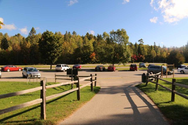Lower_Tahquamenon_Falls_118_10012015 - Looking back at the parking lot closest to the trail leading closer to the Lower Tahquamenon Falls