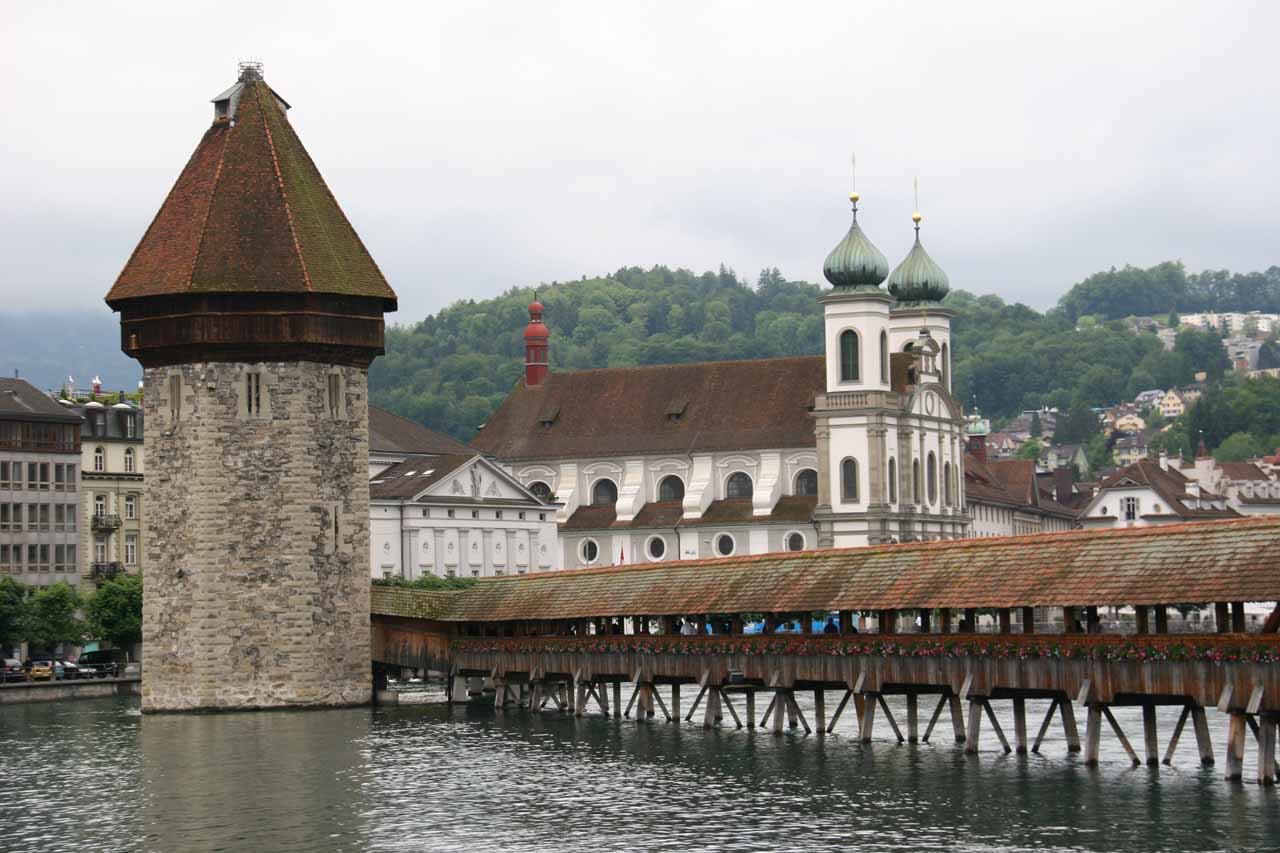 Prior to our arrival in Zurich from Interlaken, Julie and I made a stop in Lucerne, which was quite nice despite the bad weather we had faced while there