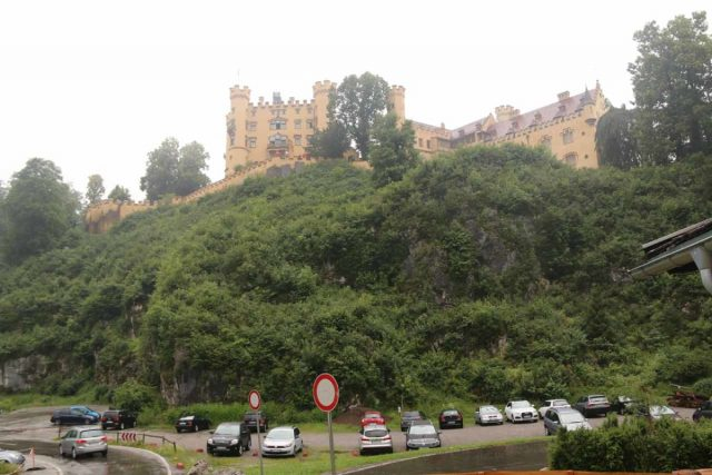 Ludwigs_Castles_010_06242018 - Looking towards one of the closer car parks beneath the Hohenschwangau Castle