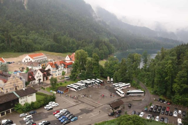 Ludwigs_Castles_095_06242018 - Looking down at the context of another one of the car parks closer to the shores of Alpsee as seen from Hohenschwangau Castle