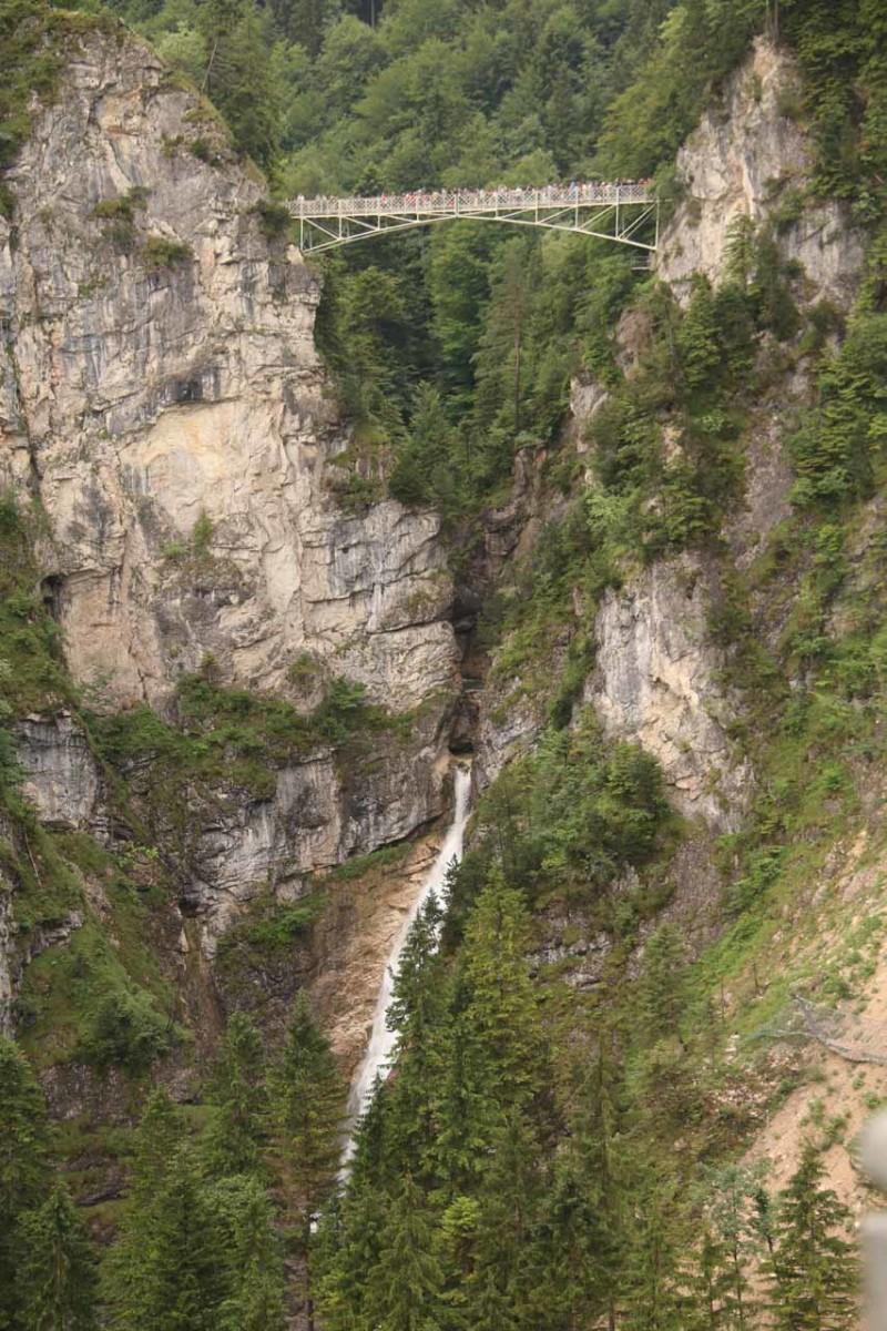 Poellat Gorge Waterfall with Maria's Bridge (Pöllatschlucht Wasserfall mit Marienbrücke)
