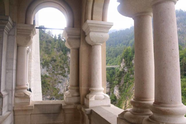Ludwigs_Castles_263_06252018 - Context of the Marienbrücke side of the balcony on the far west end of the Neuschwanstein Castle