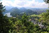 Ludwigs_Castles_424_06252018 - Contextual look at both Neuschwanstein Castle and Hohenschwangau Castle with Alpsee and Hohenschwangau Valley as I had gone high up the trail beyond Marienbrucke