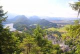 Ludwigs_Castles_430_06252018 - This was as far as I hiked without water as I got this commanding view of both Neuschwanstein Castle with Schloss Hohenschwangau together with the Alpsee and Schwansee