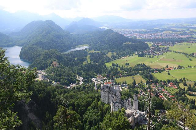 Ludwigs_Castles_434_06252018 - This was as high up as I went to get a view of both Neuschwanstein and Hohenschwangai along with Alpsee from well beyond the Marienbrucke