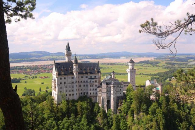 Ludwigs_Castles_470_06252018 - Looking back at the famous Neuschwanstein Castle in Bavarian Germany