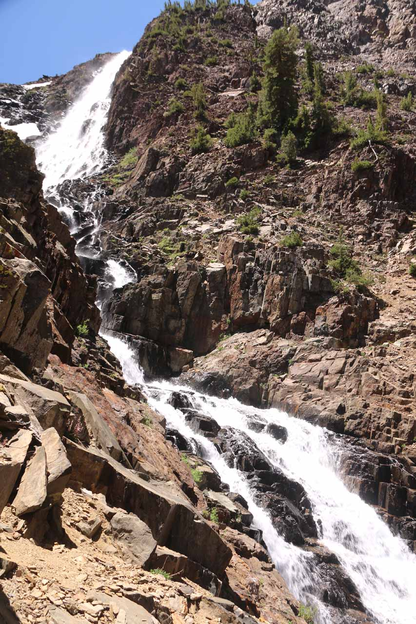 Here's another look at as much of that last Lundy Canyon Waterfall as we could capture in one photo