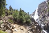 Lundy_Canyon_379_07112016 - There was a pair of backpackers determined to go to the 20 Lakes Basin who decided that this steep slope was where they should continue their ascent.  It looked a bit too steep for our liking so we were content to enjoy this waterfall before turning back
