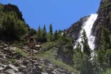 Lundy_Canyon_381_07112016 - There was a pair of backpackers determined to go to the 20 Lakes Basin who decided that this steep slope was where they should continue their ascent. It looked a bit too steep for our liking so we were content to enjoy this waterfall before turning back