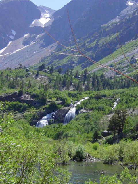 Lundy_Falls_002_07052002 - Waterfalls in Lundy Canyon were definitely flowing very well in the month of July