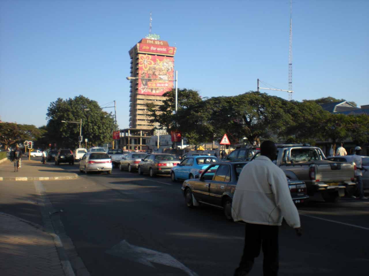 Within the traffic of Lusaka