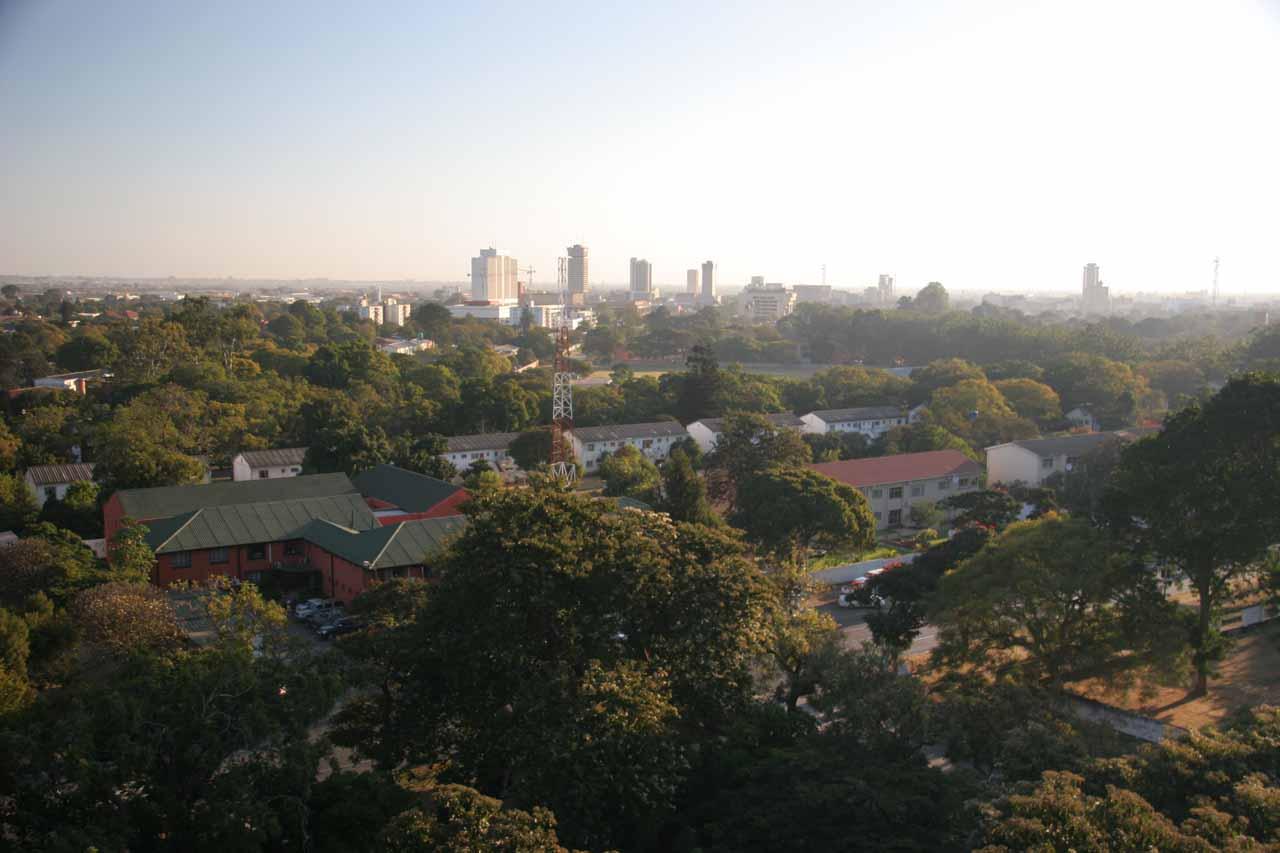 View from the balcony of our Taj Pamodzi room