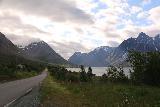 Lyngen_Alps_035_07042019 - Driving towards the breathtaking mountains surrounding Kjosen on the Rv91 towards Lyngseidet
