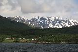 Lyngen_Alps_090_07042019 - Looking towards the north at some snowy mountains on the west side of the Lyngen Channel