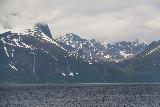 Lyngen_Alps_206_07042019 - Looking across the Lyngen Channel towards what I think is the giant waterfall Vakkasjohka with some towering mountains above it