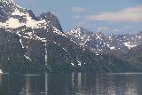 Lyngen_Alps_295_07072019 - Another look at the Vakkasjohka with fishing boat on the Lyngen Channel