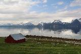Lyngen_Alps_303_07072019 - Another contextual view of a farm fronting the Lyngen Channel and the southern part of the Lyngen Alps