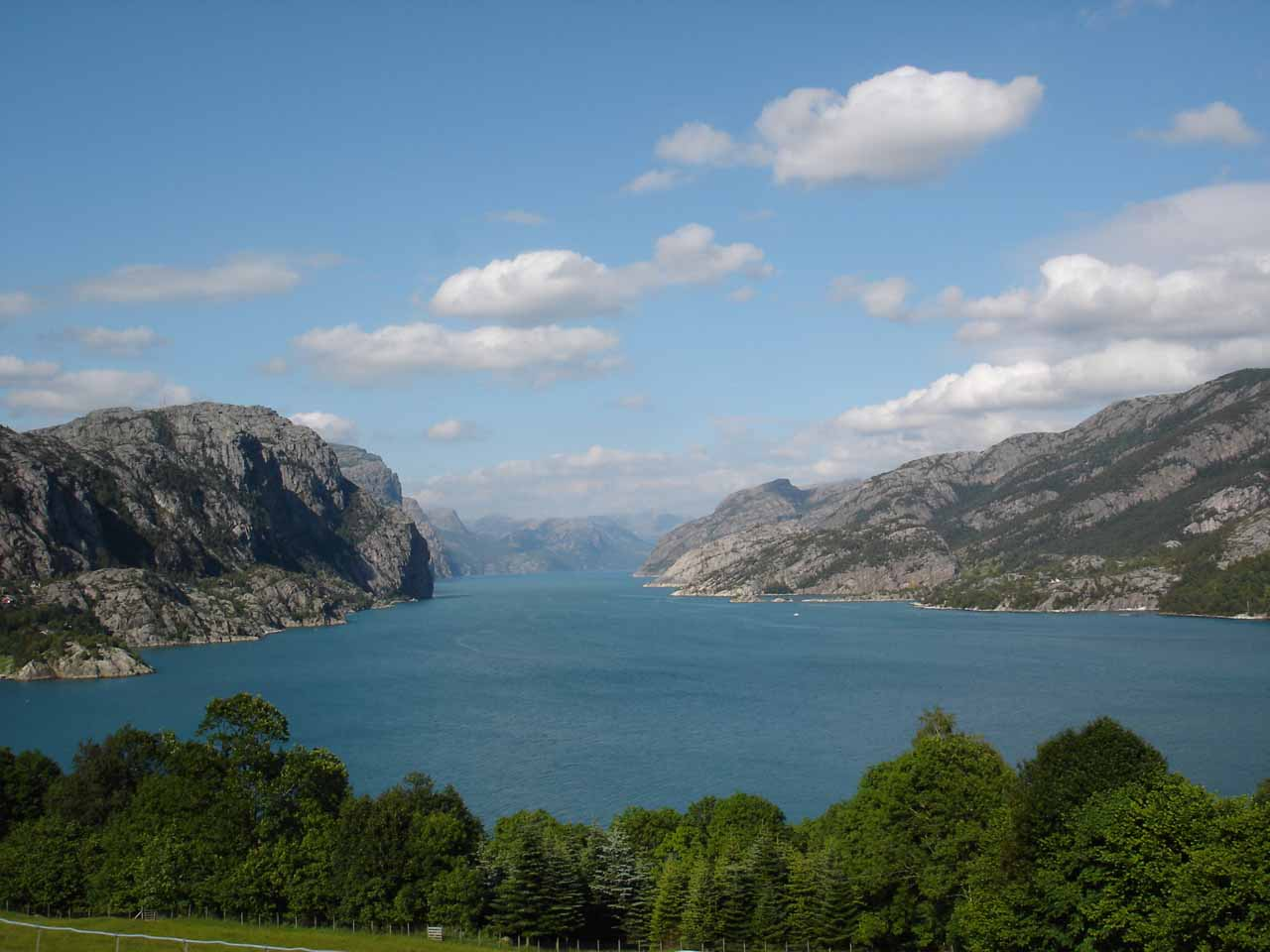 The mouth of Lysefjorden
