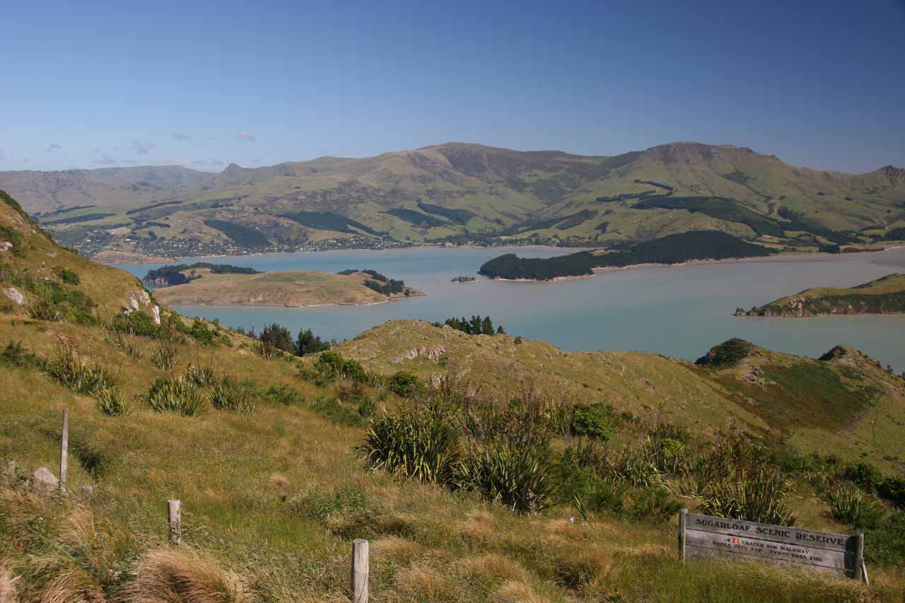 About 30 minutes southeast of Christchurch was the charming Lyttleton Harbour, where we got these views on the way to the harbour itself