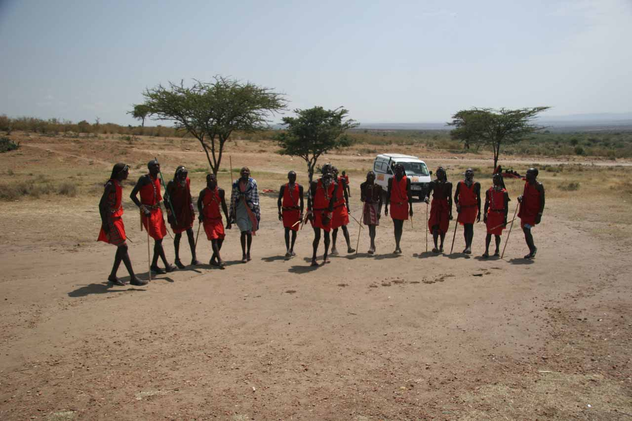 Full context of Maasai dance