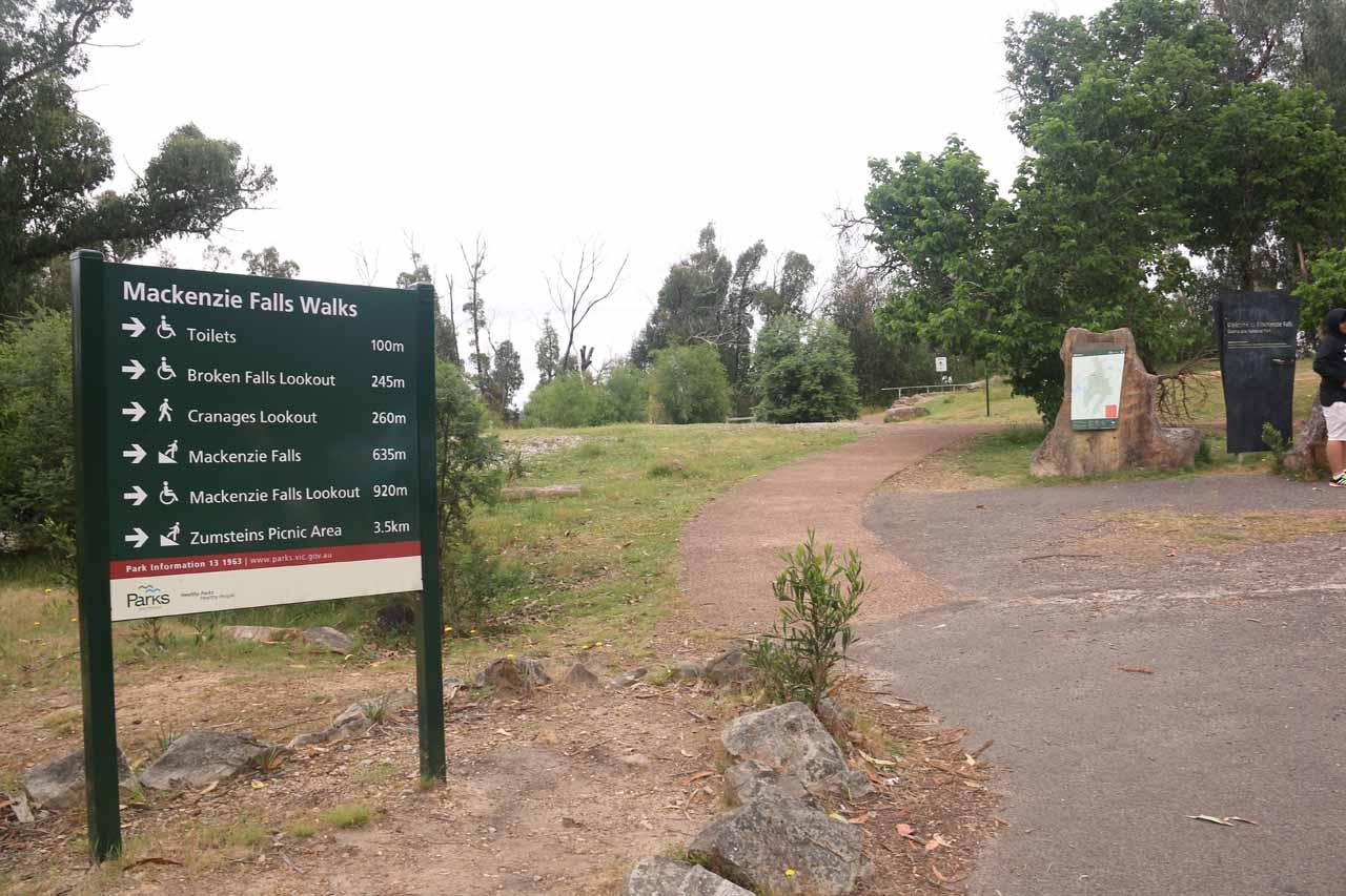 The MacKenzie Falls car park