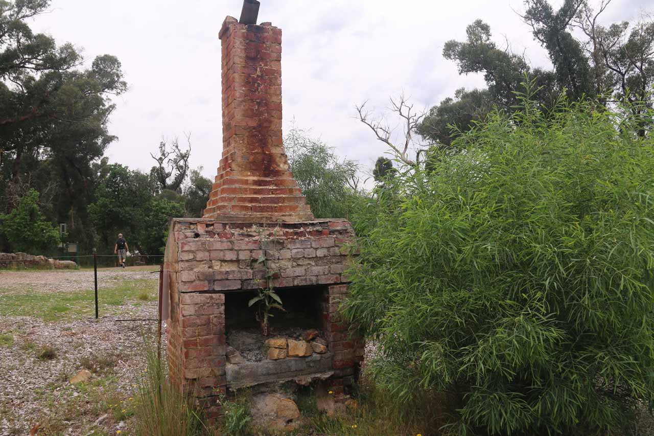 This chimney appeared to be what was left standing after a lightning-caused firestorm raged through the area in 2014