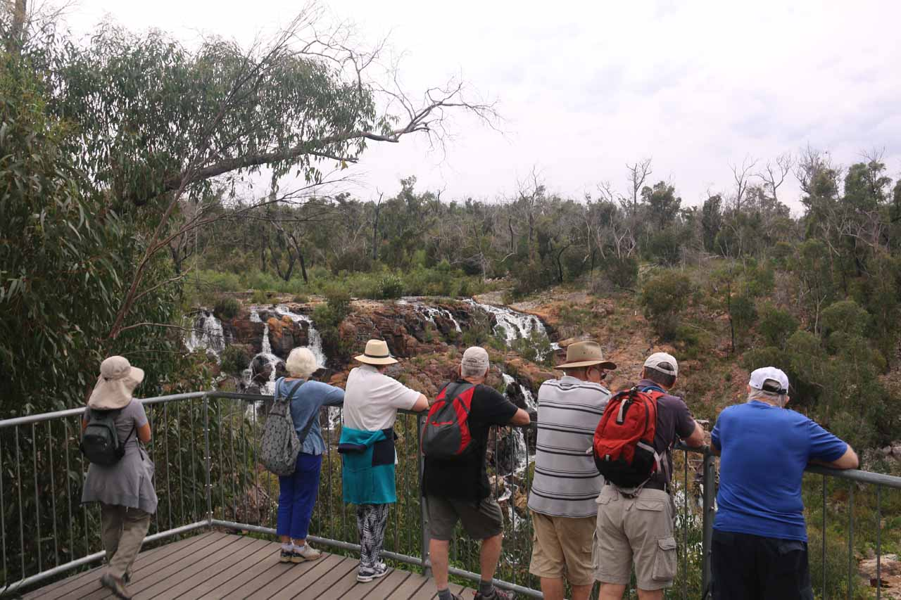 We shared the Broken Falls lookout with many other visitors