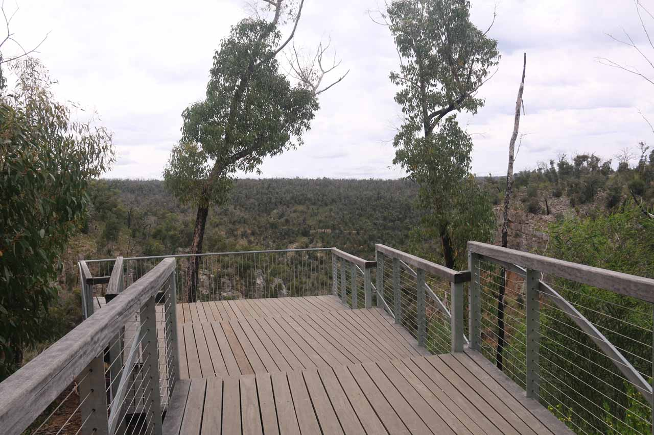 Continuing on the descent to the bottom of MacKenzie Falls, we spotted this interesting viewing deck with expansive views
