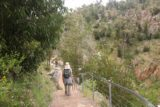 MacKenzie_Falls_17_055_11142017 - Julie continuing her descent to the base of MacKenzie Falls during our November 2017 visit