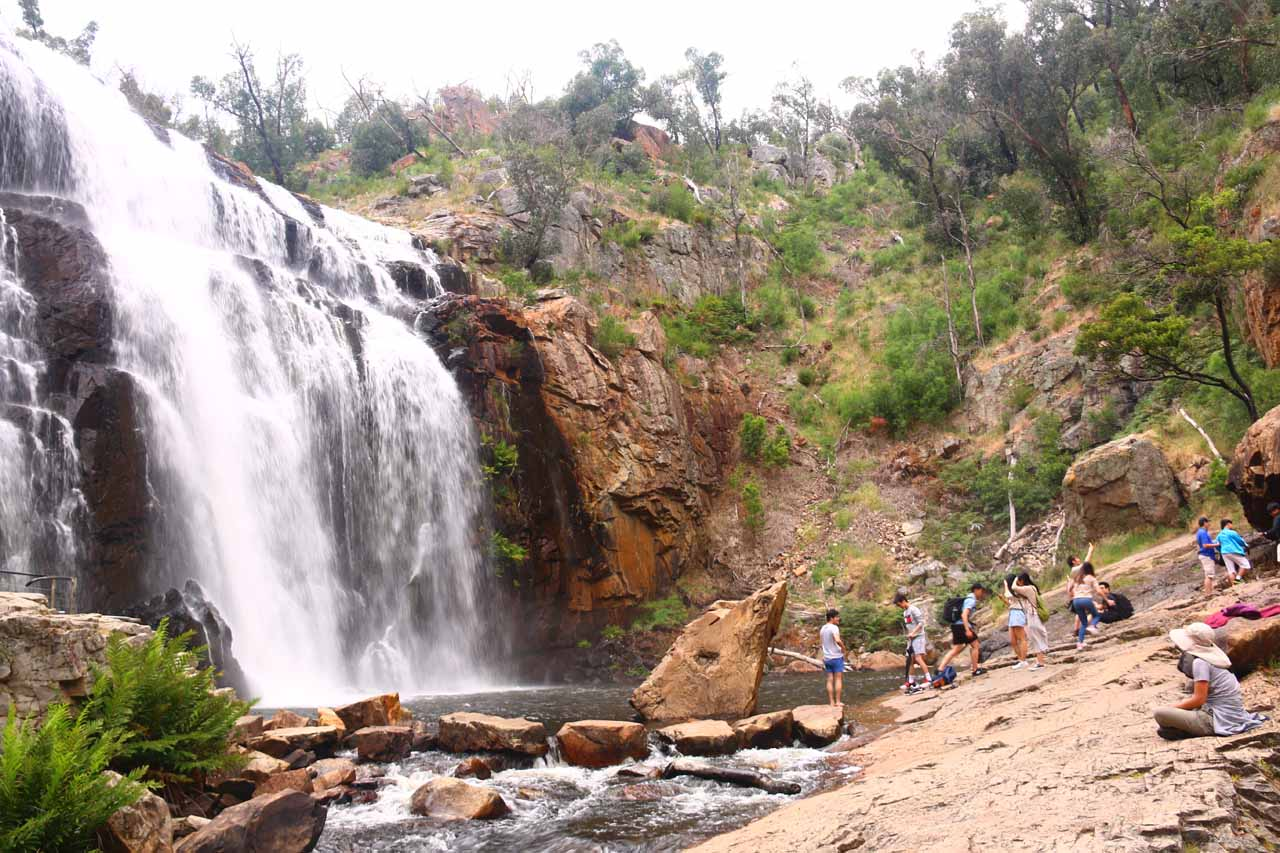 On our 2017 visit, it was definitely a lot busier at the base of MacKenzie Falls than before