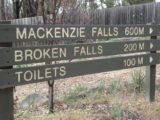 Mackenzie_Falls_001_jx_11132006 - Sign at the start of the walk to the base of the MacKenzie Falls.  Note the Broken Falls track was closed during our visit back in November 2006