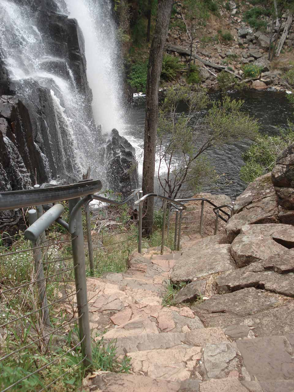 Looking down at the steps we had to take to make it down to the base of MacKenzie Falls