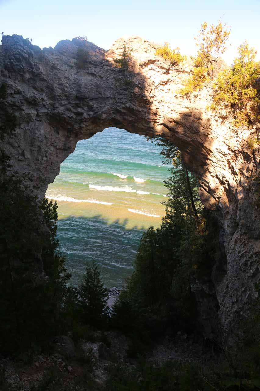 Another look at the impressive Arch Rock on Mackinac Island