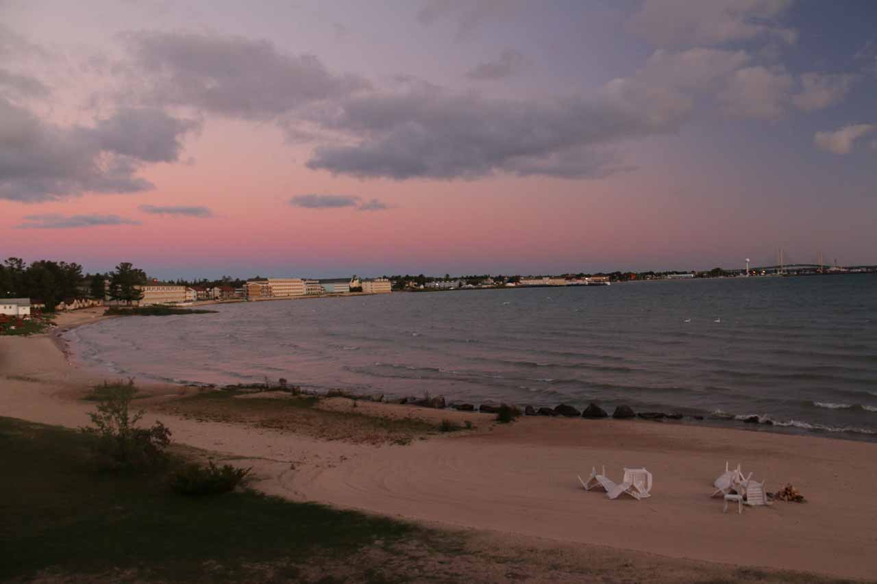 Last look from behind our motel in Mackinaw City before we headed out to the Sleeping Bear Dunes