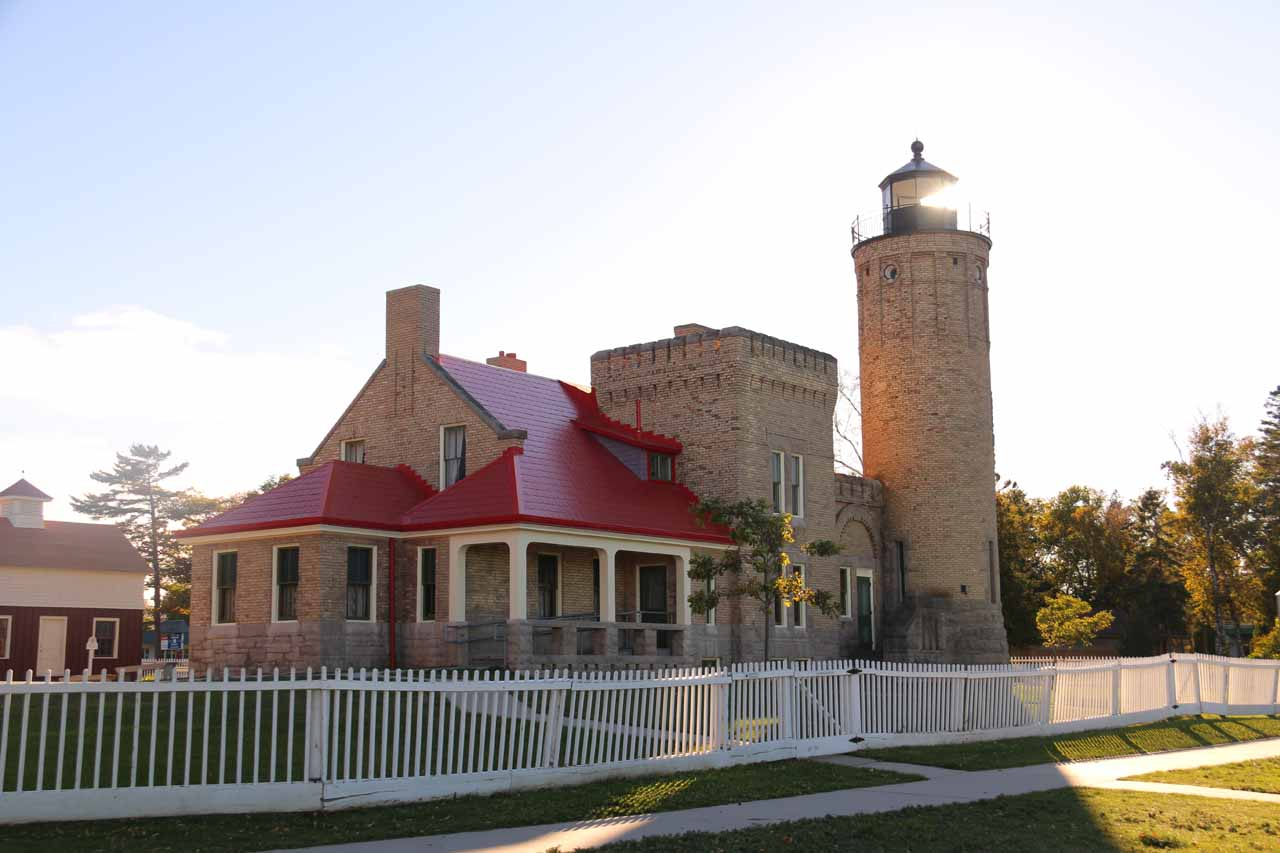 Another look at the attractive Old Fort Lighthouse near Colonial Michilimackinac