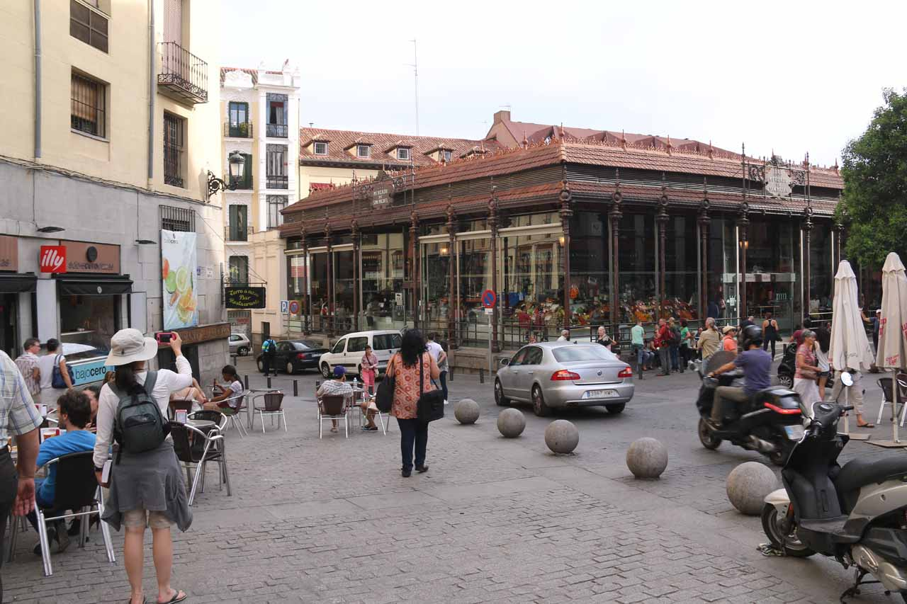 Approaching the Mercado de San Miguel