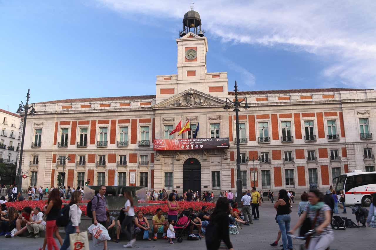 Back at the Puerta del Sol