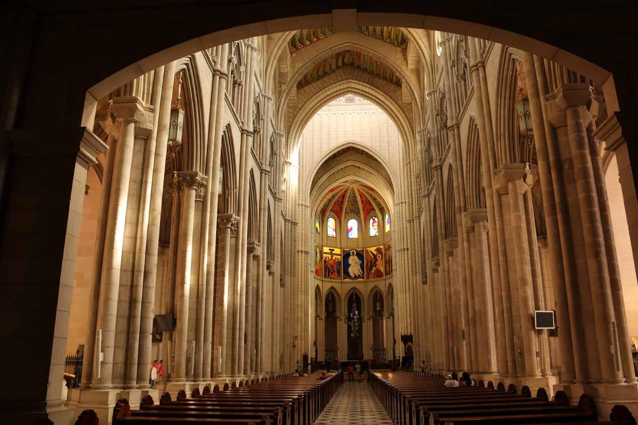 Inside the Catedral de la Almudena in Madrid