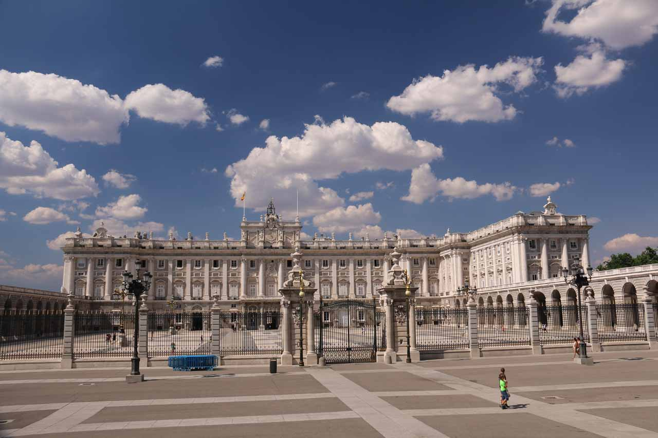 Looking towards the Palacio Real from the backside of the Catedral de la Almudena