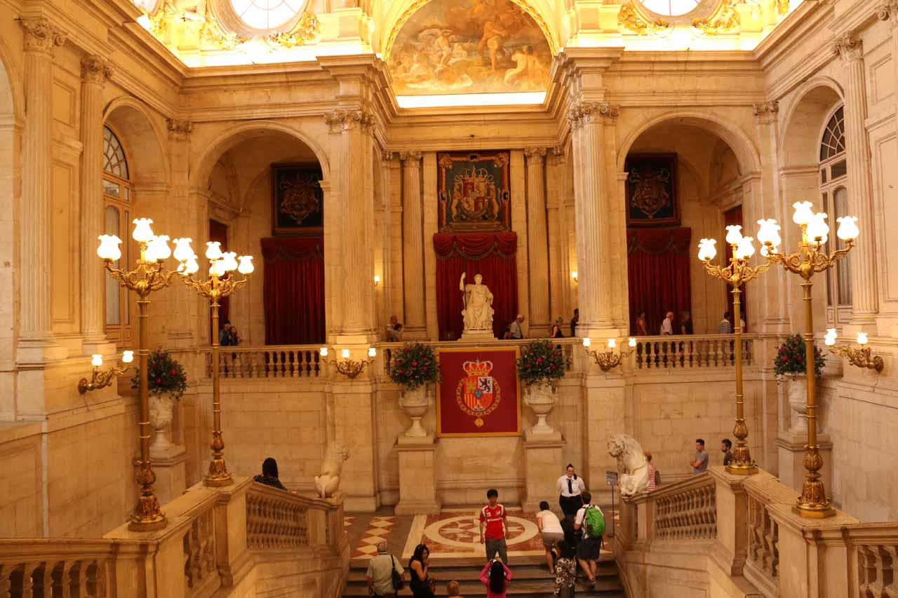 Another look at the Escalera Principal as we started our tour of the Palacio Real