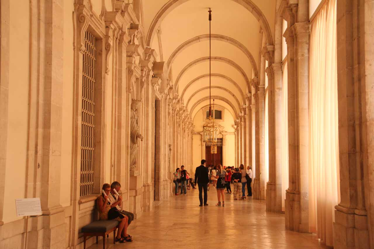This long hallway was another one of the rare spots where we were able to take photos within the Palacio Real