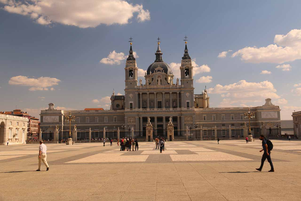 Back at the big open courtyard of the Palacio Real as we looked back towards the Catedral de la Almudena