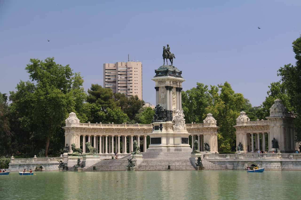 The city of Madrid was the base of our long day trip to Cuenca and back (which included the Cascada del Molino). Shown here is the Retiro Park, which was like Madrid's Central Park