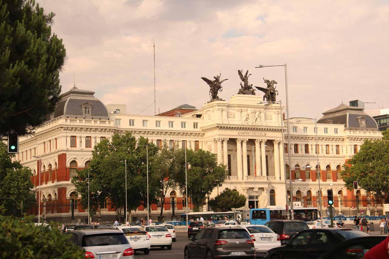 Starting our walk towards the Prado Museum after leaving the Museo de Reina Sofia