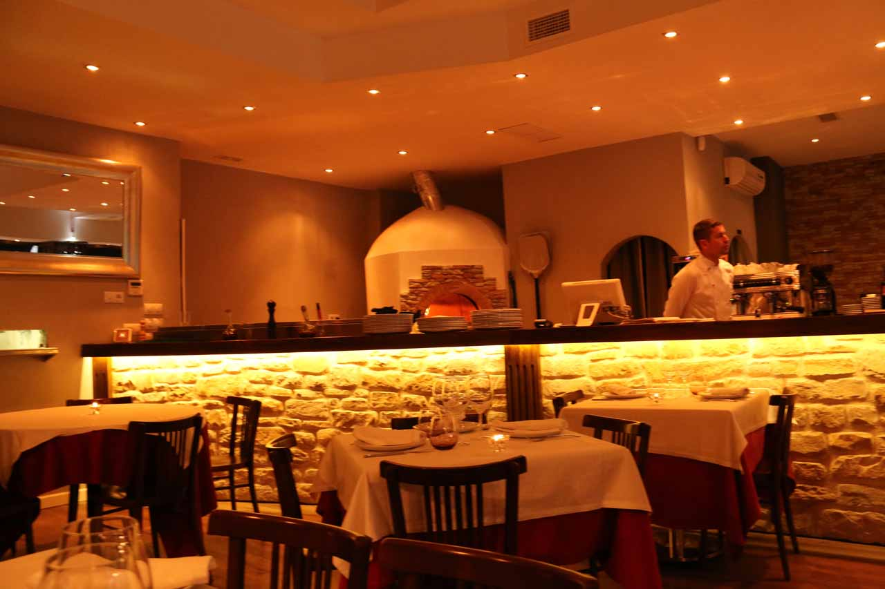 Inside the Pizzeria Reginella, which really hit the spot when we were pretty tired of Spanish food