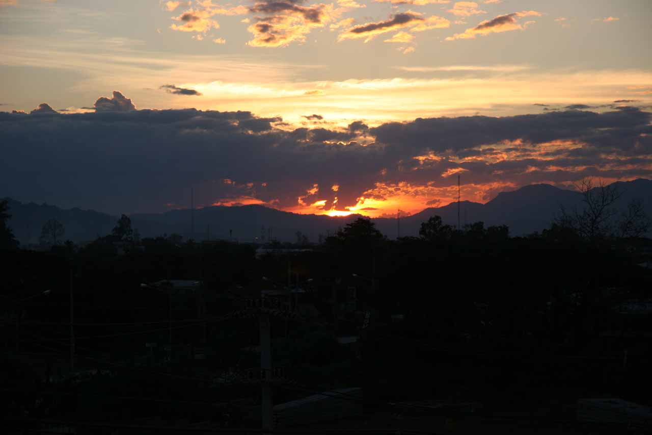Sunset over Mae Sot