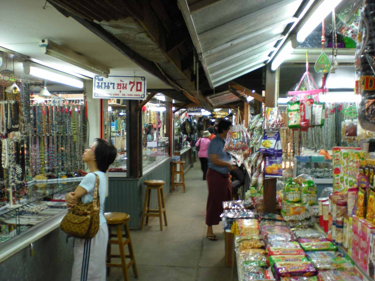 Inside the local market by the River Moeri