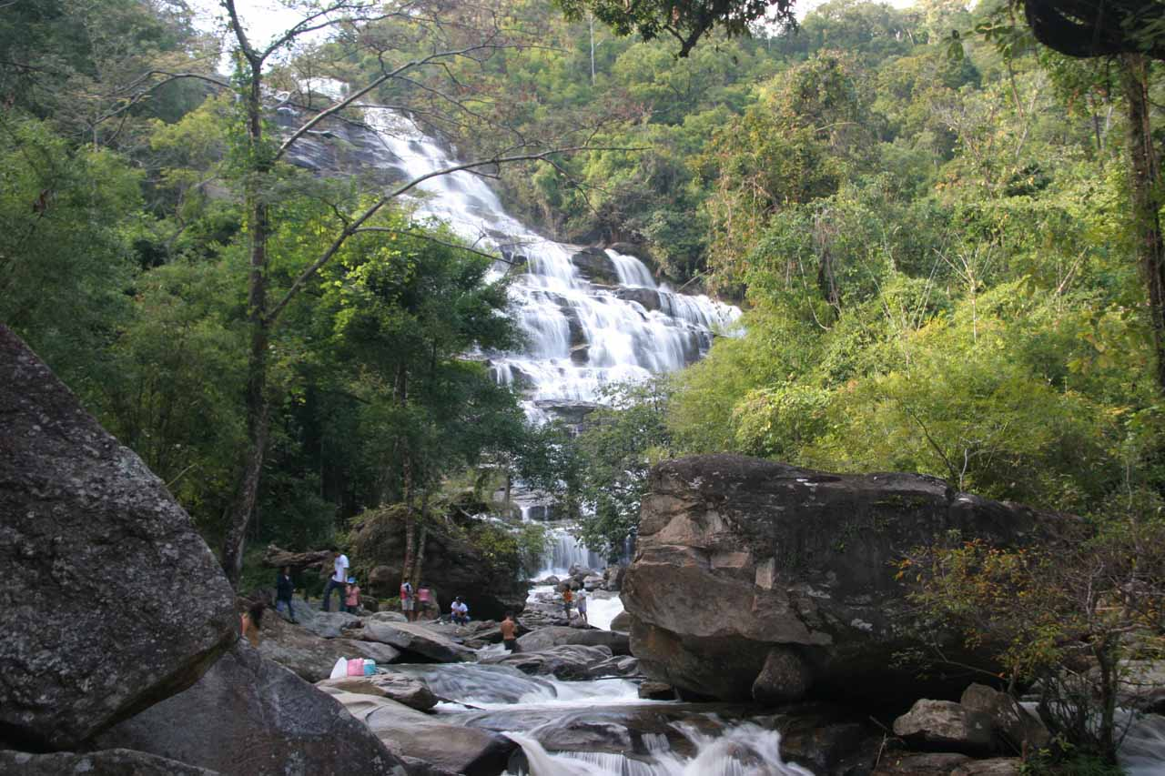 We saw quite a few people enjoying the water downstream of the Mae Ya Waterfall