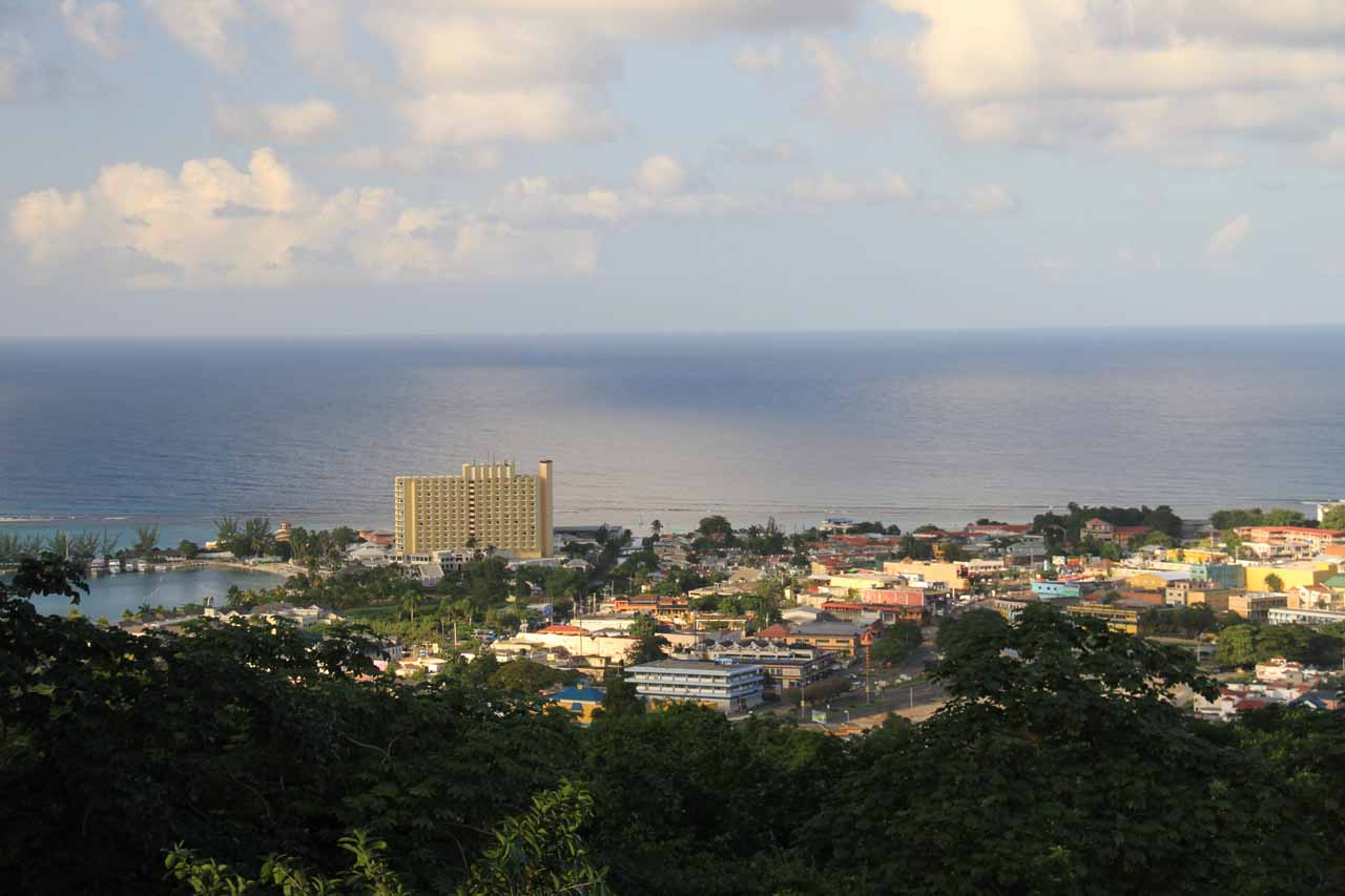 While we were visiting the grounds of Mahoe Falls, we got this overview of Ocho Rios
